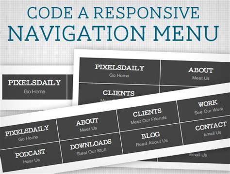 design menu responsive code a responsive navigation menu design shack