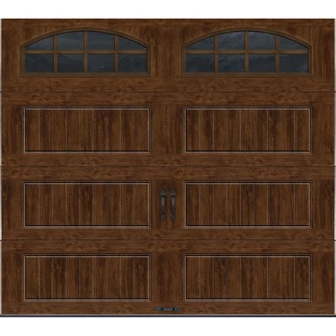 9 Ft Garage Door Ideal Door 174 9 Ft X 8 Ft Walnut Pnl Carriage House Insul Ez Set 174 Garage Door At Menards 174