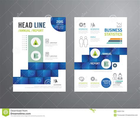 ind annual report template vector brochure flyer magazine cover booklet poster