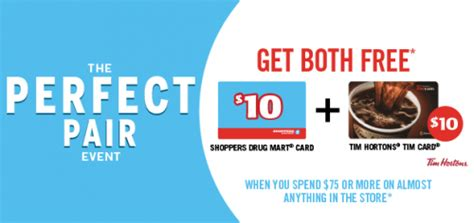 Shoppers Gift Card Balance Check - shoppers drug mart canada offers two free 10 gift cards when you spend 75 or more
