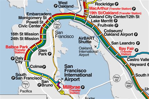bart stations map bart station map my