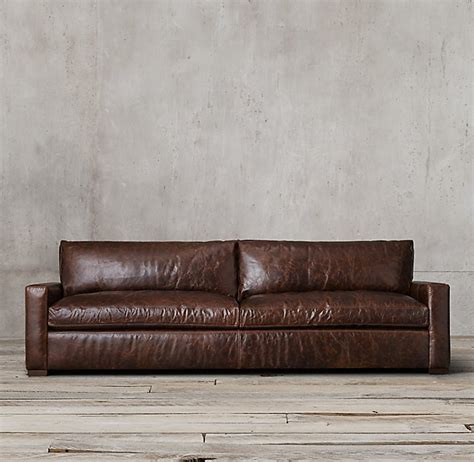 restoration hardware maxwell leather sofa restoration