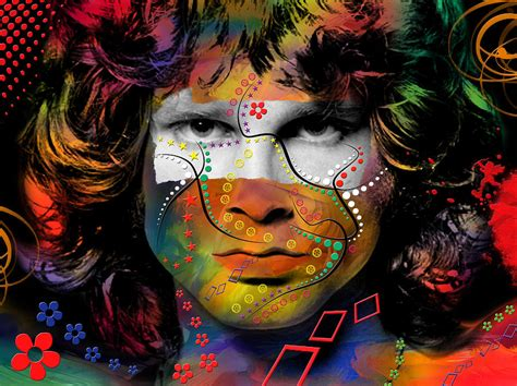 jim morrison digital art by mark ashkenazi