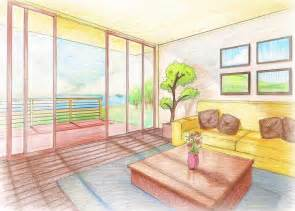 Living Room Drawing Easy Interior Perspective Living Room By Rjldeximo On Deviantart