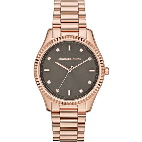michael kors mk ladies rose gold tone  steel