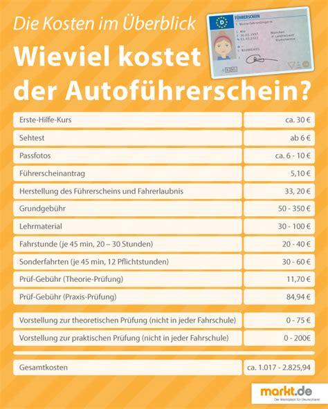 Was Kostet Ein Auto F Hrerschein by Wie Viel Kostet Ein F 252 Hrerschein F 252 R Das Auto Markt De