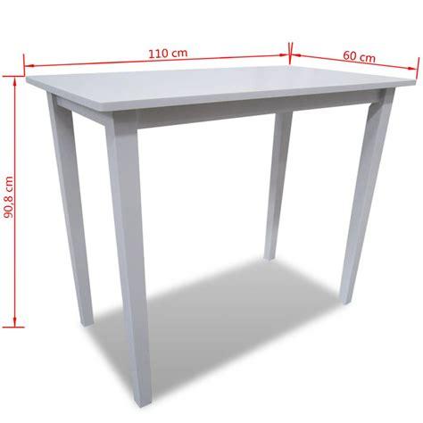 tavolo bar tavolo da bar in legno bianco vidaxl it