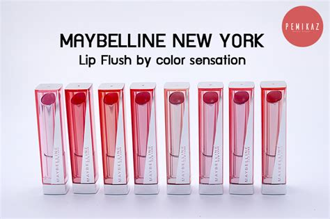 Maybelline Lip Flush เปม การ ว ว maybelline lip flush 8 เฉดส จ ดเต ม สวย ใส ทา