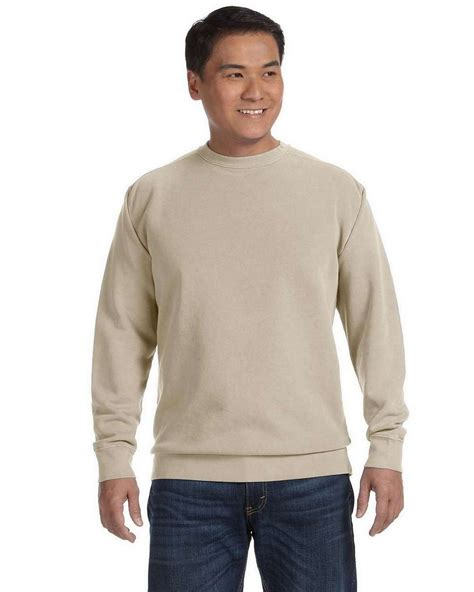 comfort colors sandstone comfort colors 1566 garment dyed fleece crew