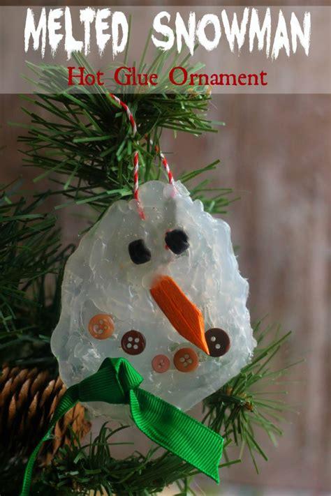 homemade melted snowman ornament family focus blog