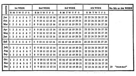 365 das con el un calendario con 13 meses marcianos