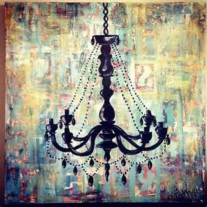 Painting Chandelier Shabby Chic Chandelier