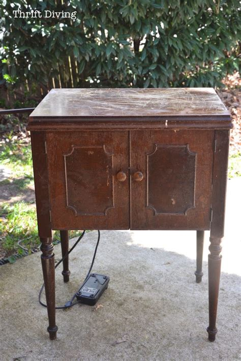 used sewing machine cabinet old sewing machine cabinet makeover bing images