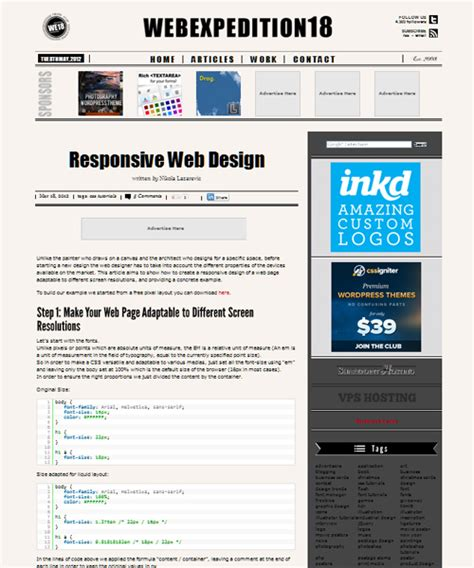 tutorial on web design and development 35 responsive web design and development tutorials