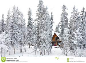 christmas cottage in winter wonderland stock image image