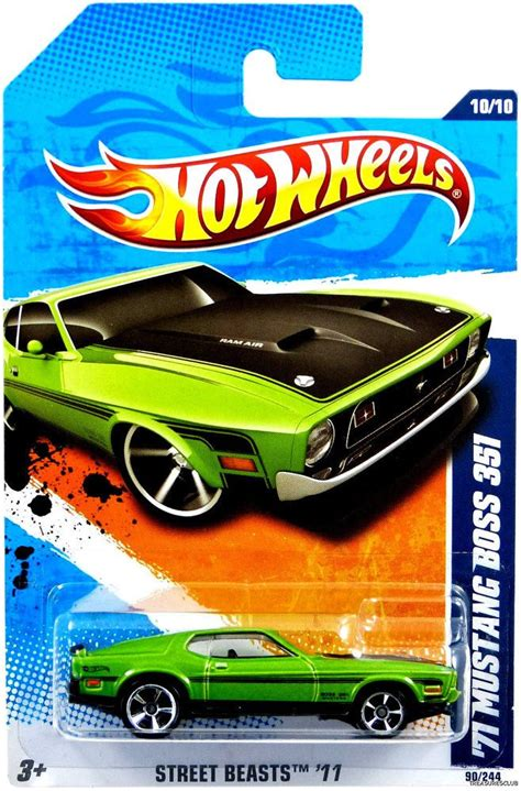 Hotwheels 71 Mustang 351 wheels beasts 11 green 71 mustang 351
