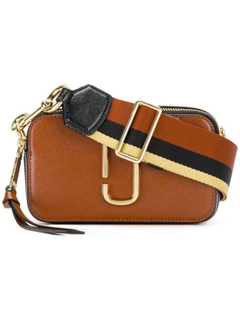 Mj Marc Snapshot Black Brown Marc Snapshot Bag In Brown Lyst