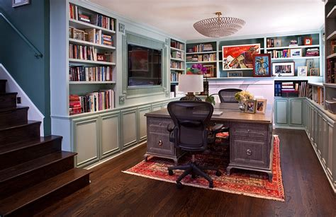 Basement Office Design | basement home office design and decorating tips