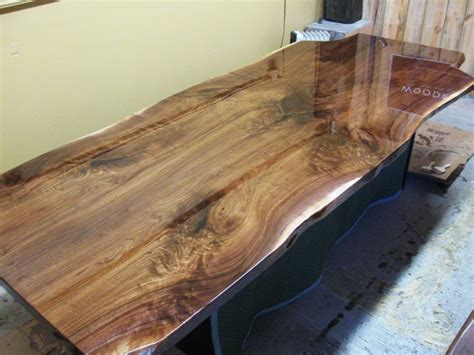 Woodrich Walnut Live Edge Slab Table Tops Built To Your Needs