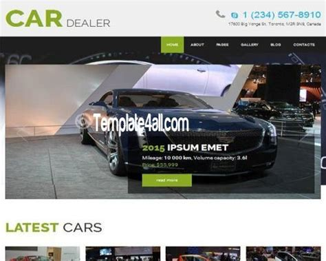 responsive free joomla car dealer template
