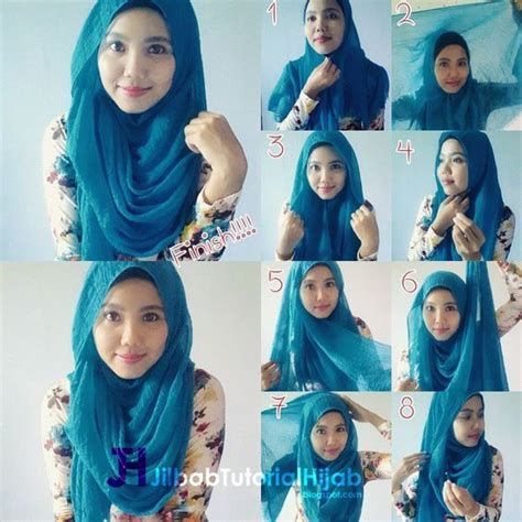 gambar tutorial hijab formal 36 best hijab tutorial tutorial hijab modern images on