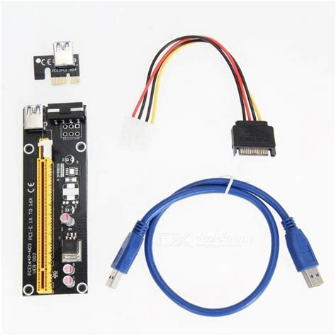 Gratis Ongkir Usb 3 0 To Extension Cable 3m pci e 1x to 16x usb 3 0 extension cable black white multi colored free shipping