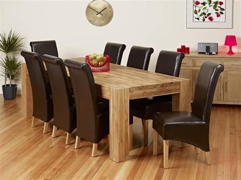 table and 8 chairs 20 inspirations oak dining tables 8 chairs dining room ideas