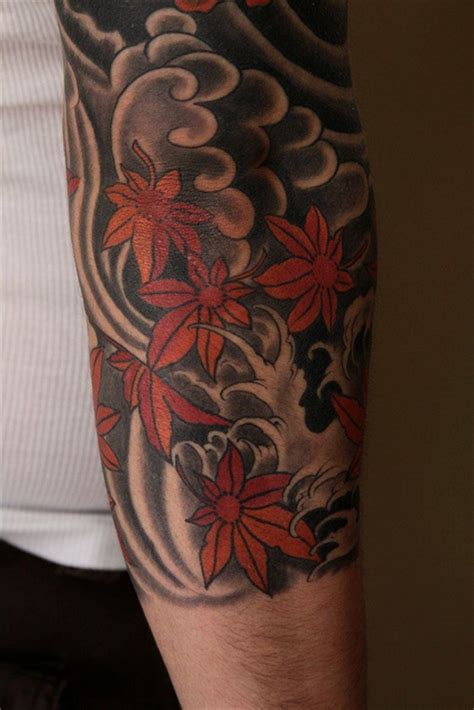 japanese maple leaf tattoo maple and wind jason schroder japanese style