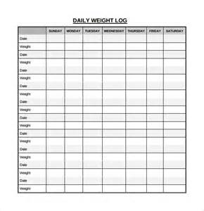 Weight Log Template by Sle Daily Log Template 15 Free Documents In Pdf Word