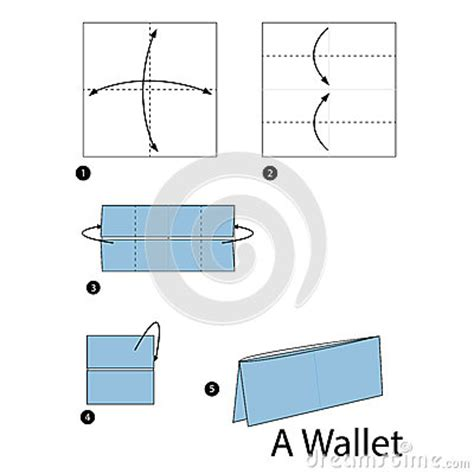 How To Make A Paper Wallet For - step by step how to make origami a wallet