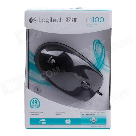 Logitech Wired Optical Mouse M100r Black Ltms0ibk logitech m100r usb 2 0 wired 1000dpi optical mouse black
