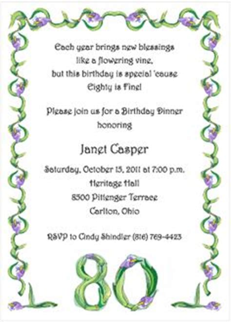 invitation wording for 80th birthday 80th birthday invitation wording 80th birthday invitation wording including enchanting birthday