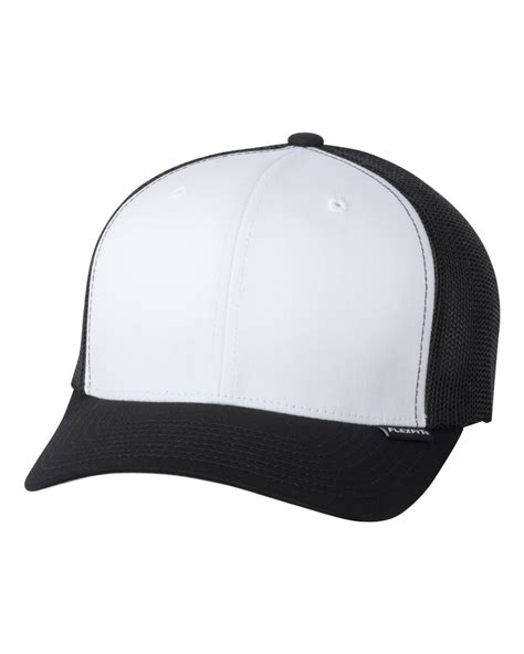 flexfit trucker mesh cap plain blank baseball hat flex fit