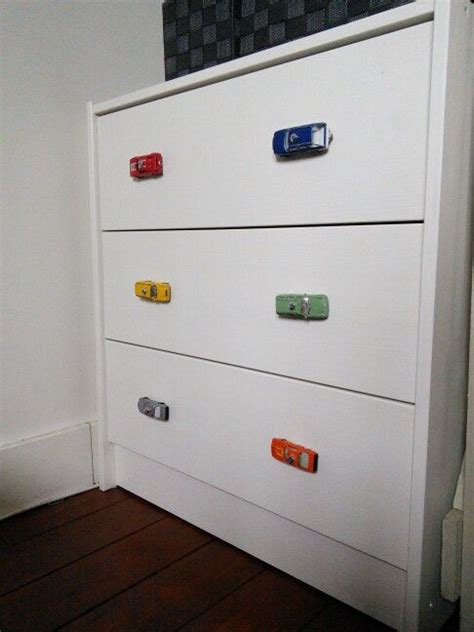 Boys Dresser Knobs by Diy I Replaced The Boring Knobs With Cars For Our