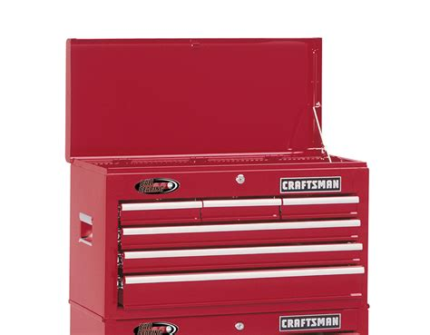 craftsman 26 inch 6 drawer tool chest craftsman 26 quot wide 6 drawer ball bearing top chest red