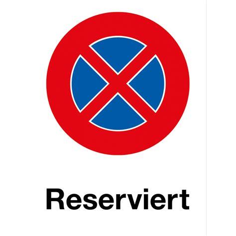 parkverbot reserviert hochformat von onlinestickerch