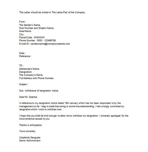 Withdrawal Letter How To Write A Withdrawal Letter From College Cover Letter Templates