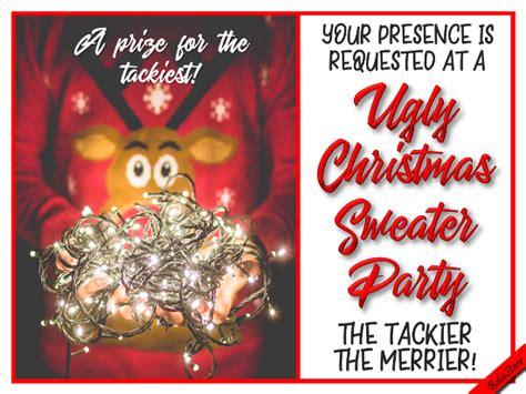 ugly christmas sweater  invitations ecards greeting cards
