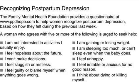 postpartum depression postnatal depression the basic guide to treatment and support books the new york times gt health gt image gt recognizing