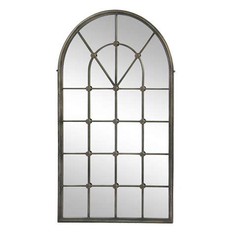fenster mit rundbogen spiegel chateau antik fenster wandspiegel rundbogenfenster