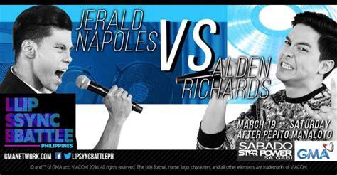 philippines in sync alden richards vs jerald napoles on lip sync