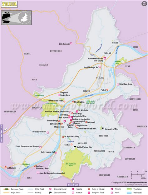 maps germany directions trier map city map of trier germany