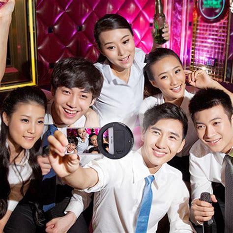 Ring Selfie Bulat Besar Spotlight Flash L Phone Led Selfie selfie spotlight led flash l phone ring black