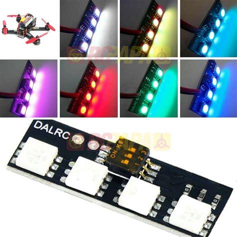 dalrc mini led light board rgb 12v 7 color for fpv