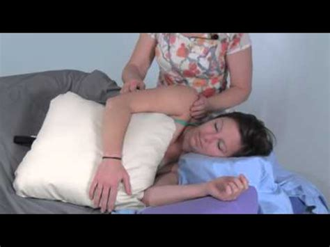 what is draping in massage carole osborne demonstrates breast draping for side lying