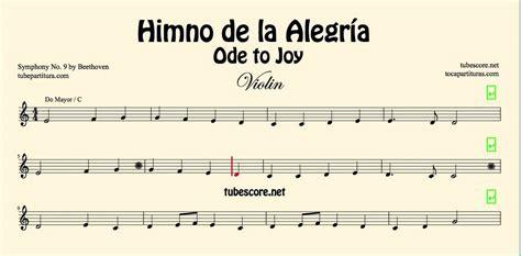 ode to joy violin piano himno de la alegr 237 a himno de la alegr 237 a partitura de violin ode to joy en do mayor partitura en descripci 243 n youtube