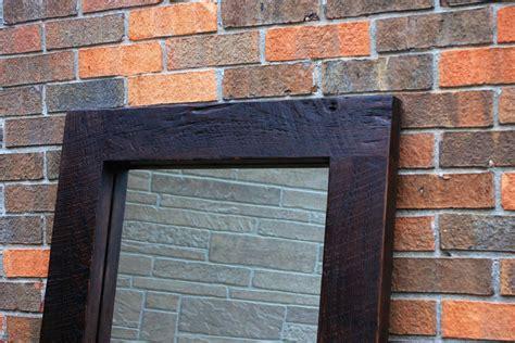 framed floor mirror thick wooden frame mirror chunky framed