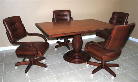 kitchen table chairs with casters kitchen tables with caster chairs home decorating ideas