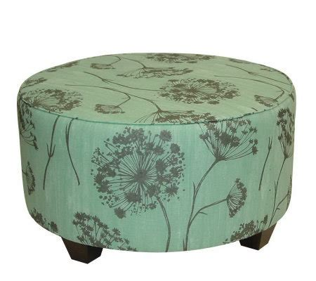 round cocktail ottoman upholstered round upholstered queen anne s lace cocktail ottoman