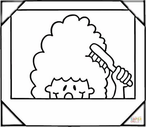 coloring page hair brush h 229 rborste inramad bild m 229 larbok gratis m 229 larbilder att